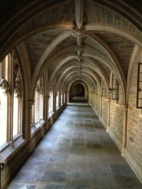 Passageway between Holder Hall and Hamilton Hall